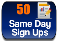 50 sign ups-delivered with in 30 days